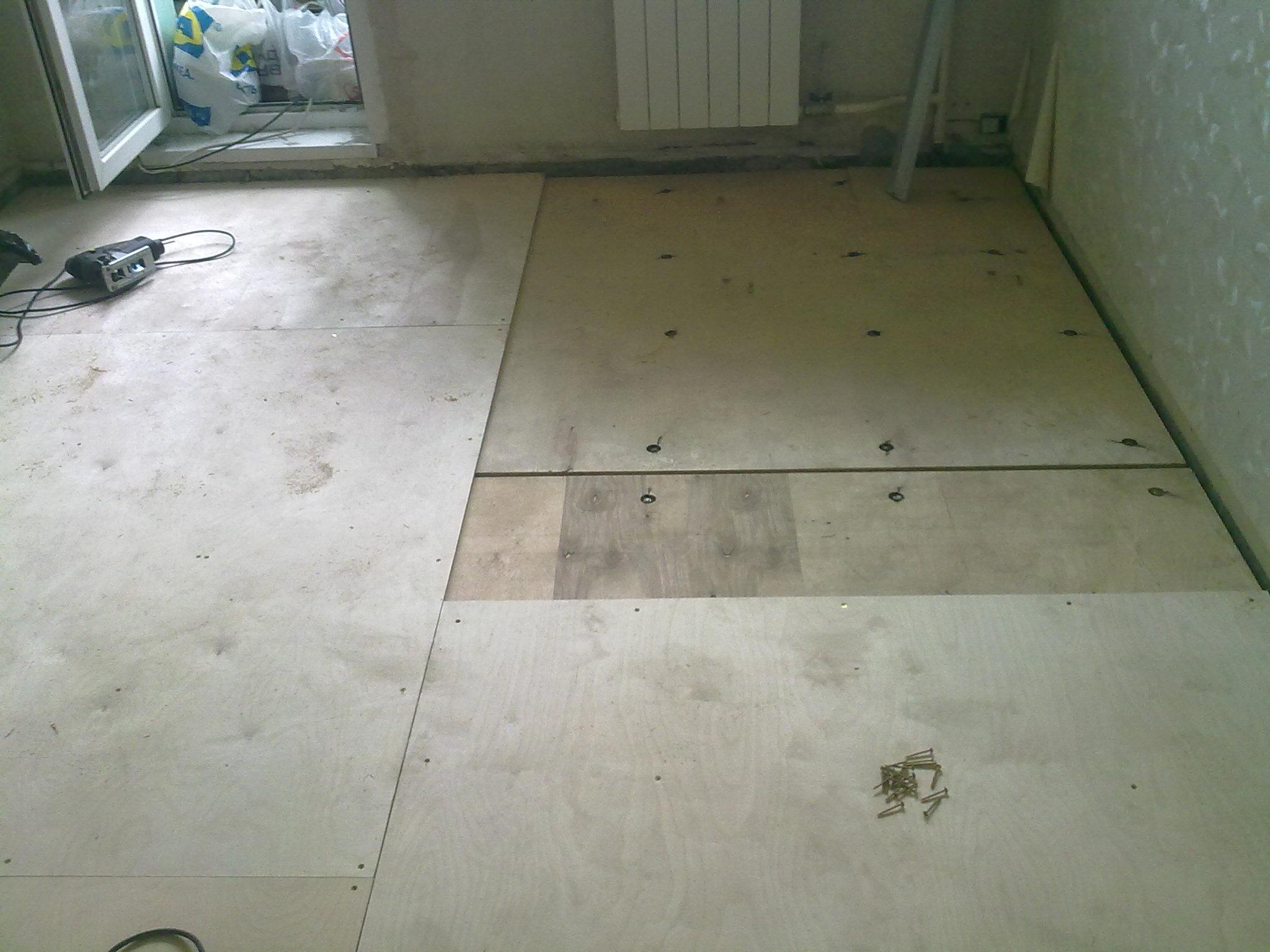 Укладка фанеры на бетонный пол своими руками: крепление 90