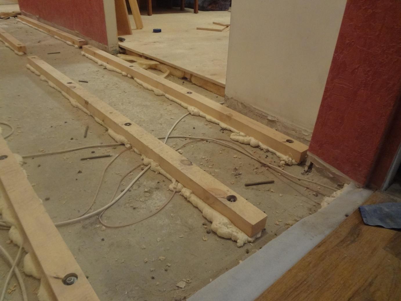 Настил деревянного пола своими руками на бетонный пол